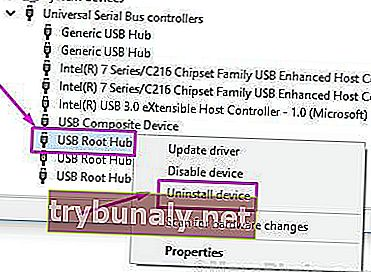 Usb Root Hub Uninstall Device